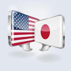 Sprechblasen in japanisch und amerikanisch