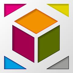 Info graphic  color boxes conception