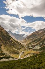 Susch, Bergdorf, Flüelapass, Susasca, Alpen, Herbst, Schweiz
