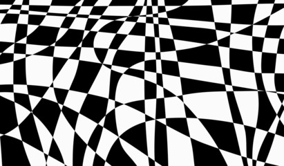 Black and white abstract irregular  background