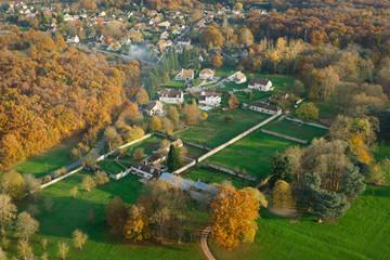 L'automne vue du ciel en Ile-de-France