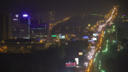The city light and highway at night
