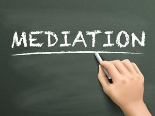 mediation word written by hand