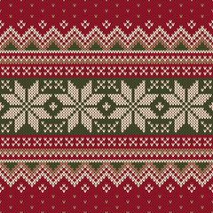 Traditional Christmas Sweater Design. Seamless Pattern