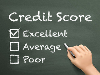 credit score survey written by hand
