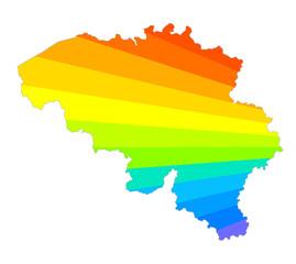 belgium rainbow map
