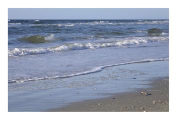 Strandidylle mit Rahmen