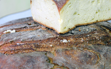 piece of homemade bread for sale in southern Italian bakery