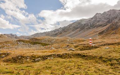 Davos, Schweizer Alpen, Bergstrasse, Flüela, Passstrasse, Herbst