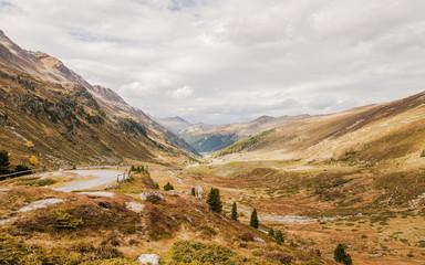 Davos, Schweizer Alpen, Flüela, Flüelapass, Passstrasse, Herbst