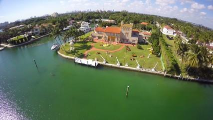 Luxury estates Miami Beach aeiral video