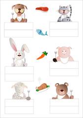 segnaposti con animaletti