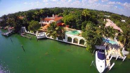 Rich lifestyles aerial video Miami