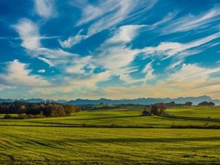 Alpenpanorama und Landschaft in Bayern