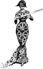 Vintage Illustration Fancy Dress Ball