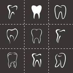 Vector teeth icon set