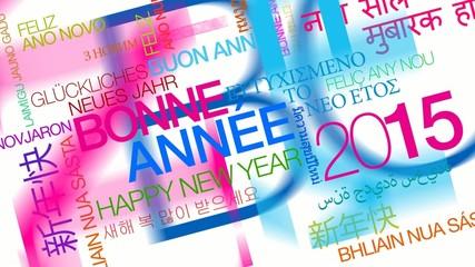 Bonne Année 2015 mots multicolore tag cloud video