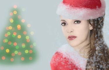 mujer en navidad