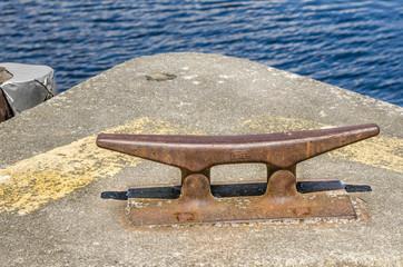 Rusty Bollard on a Pier