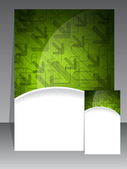 Green brochure and business card