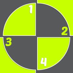 Registration mark inspired infogrpahic design