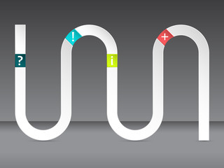 Wave infographic design