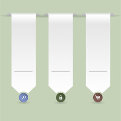 Ribbon infographic with green background