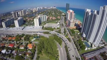 Aerial video Sunny Isles Beach FL