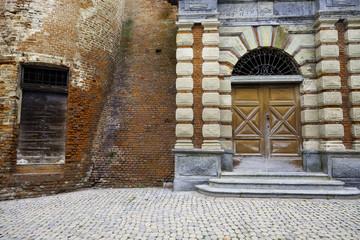 Montegrosso d'Asti, Monferrato, old city. Color image
