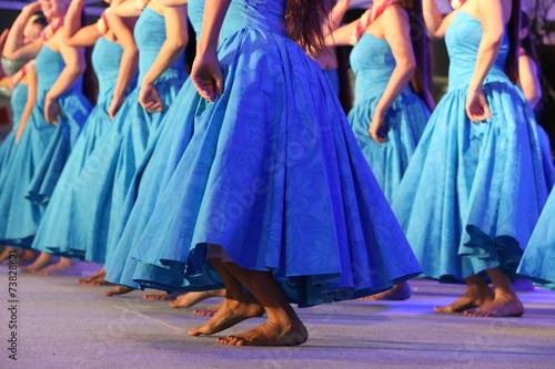 Leinwandbild Motiv Hawaiian hula dancer
