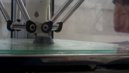 View of 3D printers in action