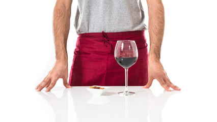 Chef with wine glass