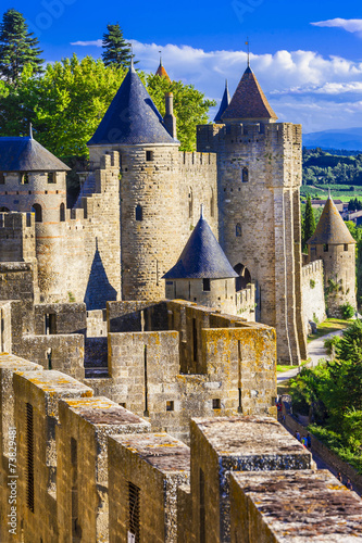 Papiers peints Chateau Carcassone - biggest fortress in Europe, France