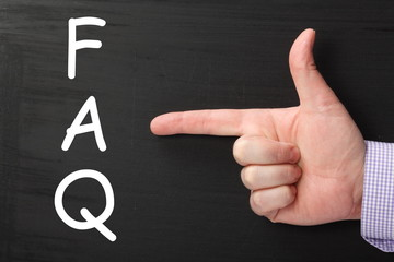 Finger Pointing to Frequently Asked Questions on Blackboard