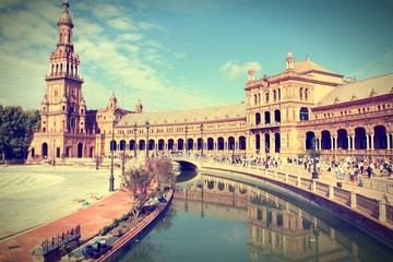 Seville. Cross processed color tone.