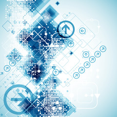 Abstract technology business template background.