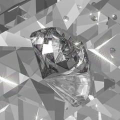 A brilliant diamond in the mirror room