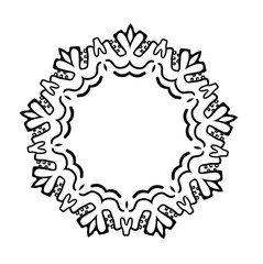 vector ethnic round ornament