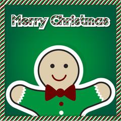 Christmas gingerbread card 2015, vector