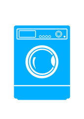 Washing machine on white background