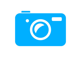 Camera icon on white background