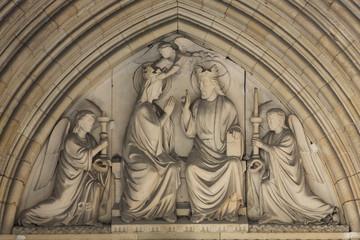 Paris -   Tympanum of the Sainte Chapelle