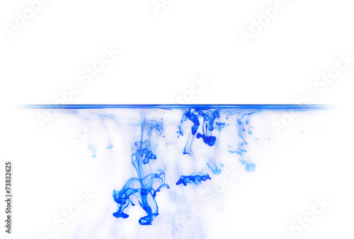 Tuinposter Vormen Blue ink in water