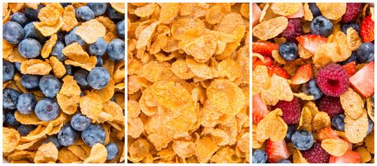Cornflakes Background Collage