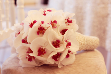 Beautiful orchid wedding bouquet decoration arrangement flower