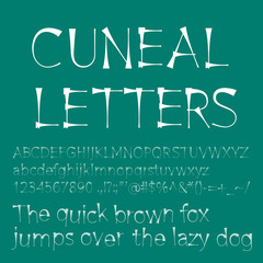 Cuneal letters and numbers
