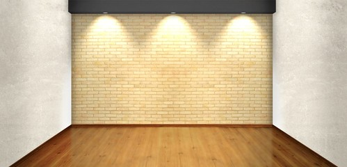 Empty room with lights
