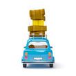small retro travel car back - 73833846