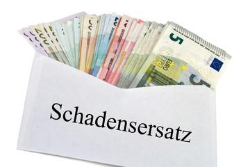 Geldscheine im Briefumschlag - Schadensersatz
