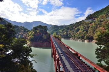 大井川鉄道 奥太井湖上駅